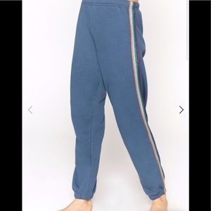 Spiritual Gangster Glitter Stripe Blue Sweatpants
